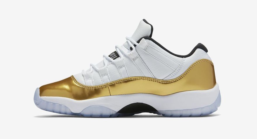 "pretty nice 391f8 d517d Air Jordan 11 Retro Low ""Gold"" Edition Releasing Soon 